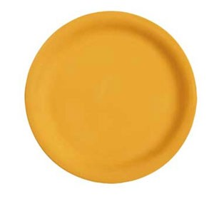 "GET Enterprises NP-9-TY Diamond Mardi Gras Tropical Yellow Narrow Rim Plate 9"" - 2 doz"