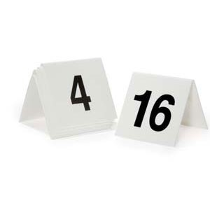 GET Enterprises NUM-51-75 Numbers 51 Through 75 Table Tent Number - 1 pack