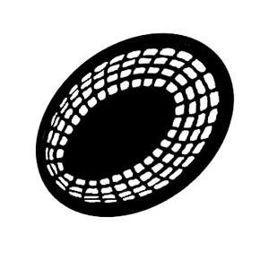 "GET Enterprises OB-734 Oval Basket 8"" x 5-1/2"" - 3 doz"