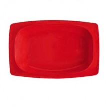 "GET Enterprises OP-118-RSP Red Sensation Melamine Oval Platter 12-1/4"" x 5"" - 1 doz"