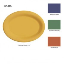 "GET Enterprises OP-120-MIX Diamond Mardi Gras Mix Melamine Oval Platter 12"" x 9"" - 1 doz"