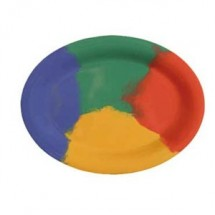 "GET Enterprises OP-135-CE Diamond Celebration Melamine Oval Platter 13-1/2"" x 10-1/4"" - 1 doz"