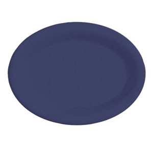 "GET Enterprises OP-135-PB Diamond Mardi Gras Peacock Blue Oval Platter 13-1/2"" x 10-1/4"" - 1 doz"