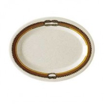 "GET Enterprises OP-135-RD Diamond Rodeo Melamine Oval Platter 13-1/2"" x 10-1/4"" - 1 doz"