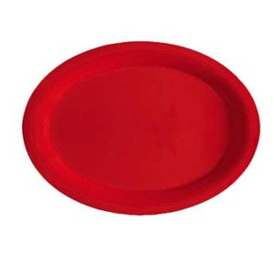 "GET Enterprises OP-135-RSP Red Sensation Melamine Oval Platter 13-1/2"" x 10-1/4"" - 1 doz"