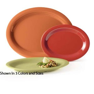 "GET Enterprises OP-135-SQ Diamond Harvest Squash Oval Platter 13-1/2"" x 10-1/4"" - 1 doz"
