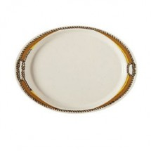"GET Enterprises OP-145-RD Diamond Rodeo Melamine Oval Platter 14-3/4"" x 10-1/2"" - 1 doz"
