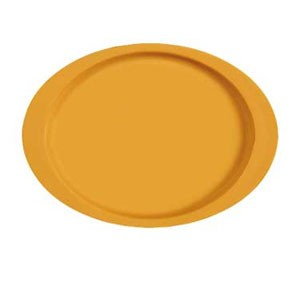 "GET Enterprises OP-145-TY Diamond Mardi Gras Tropical Yellow Oval Platter 14-3/4"" x 10-1/2"" - 1 doz"