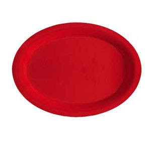 "GET Enterprises OP-320-RSP Red Sensation Oval Platter 11-1/4"" x 8-1/2"" - 1 doz"