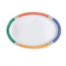 "GET Enterprises OP-610-BA Creative Table Diamond Barcelona Melamine Oval Platter 10"" x 6-3/4"" - 2 doz"
