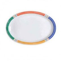 "GET Enterprises OP-612-BA Creative Table Diamond Barcelona Melamine Oval Platter 11-3/4"" x 8-1/4"" - 2 doz"