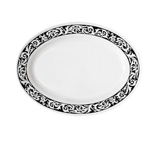 "GET Enterprises OP-618-SO Soho Oval Platter 18"" x 13-1/2"" - 1 doz"