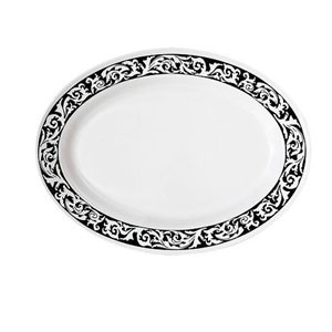 "GET Enterprises OP-621-SO Soho Oval Platter 21"" x 15"" - 1 doz"