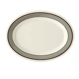 "GET Enterprises OP-950-CA Diamond Cambridge Melamine Oval Platter 9-3/4"" x 7-1/4"" - 2 doz"