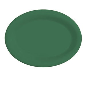 "GET Enterprises OP-950-FG Diamond Mardi Gras Rainforest Green Oval Platter 9-3/4"" x 7-1/4"" - 2 doz"