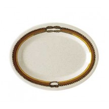 "GET Enterprises OP-950-RD Diamond Rodeo Melamine Oval Platter 9-3/4"" x 7-1/4"" - 2 doz"