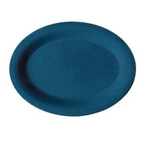 "GET Enterprises OP-950-TB Texas Blue Oval Platter 9-3/4"" x 7-1/4"" - 2 doz"