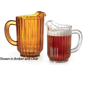 GET Enterprises P-3032-1-CL Clear SAN Plastic Beer Pitcher 32 oz. - 1 doz
