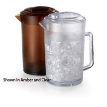 GET Enterprises P-3064-1 SAN Plastic Textured Pitcher with Lid 64 oz. - 1 doz