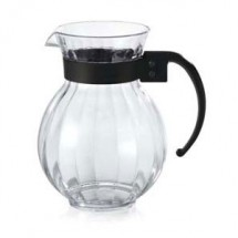 GET Enterprises P-4072-PC-CL Clear Polycarbonate Tahiti Pitcher 72 oz. - 1 doz