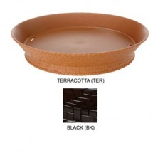"GET Enterprises RB-892-TER Terracotta Round Plastic Fast Food Basket with Base 9"" - 1 doz"