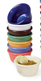 GET Enterprise  RM-389-MIX Diamond Mardi Gras 3 Oz. Fluted Ramekin Mix - 4 doz