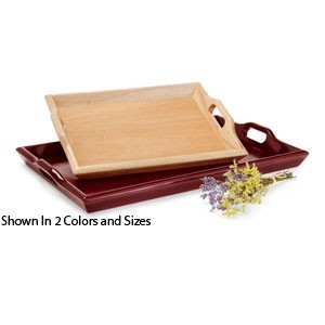 "Get Enterprises RST-1814 Wood Room Service Tray 19"" x 14-1/4"" - 1/2 doz"