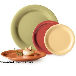 "GET Enterprises SP-OP-950-COMBO Diamond Harvest Melamine Oval Platter 9-3/4"" x 7-1/4"" - 2 doz"