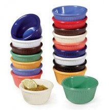 GET Enterprise  SP-RM-389-MIX Diamond Mardi Gras 3 Oz. Fluted Ramekin Mix with Special Packaging - 4 doz