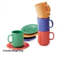 GET Enterprises SP-TM-1308-MIX Diamond Mardi Gras Assorted Colors Tritan Stacking Mug 8 oz. - 2 doz