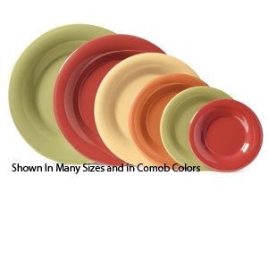 "GET Enterprises SP-WP-6-MIX Diamond Mardi Gras Assorted Colors Wide Rim Plate 6-1/2"" - 4 doz"
