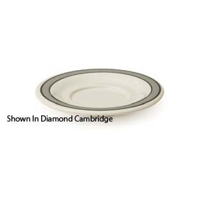 "GET Enterprise  SU-3-CA Diamond Cambridge 5.5"" Saucer for B-105, BC-70, BC-170, B-454 & C-107 - 4 doz"