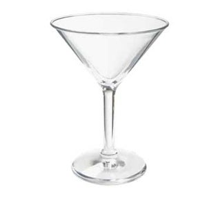 GET Enterprise  SW-1407-1-SAN-CL Clear Plastic  10 oz. Martini Glass  - 2 doz