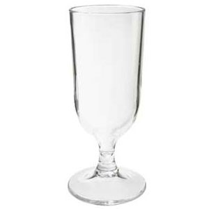 GET Enterprises SW-1414-1-CL Clear SAN Plastic Goblet 12 oz. - 2 doz