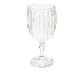 GET Enterprises SW-1422-1-SAN-CL Clear SAN Plastic Fluted Wine Glass 8 oz. - 2 doz