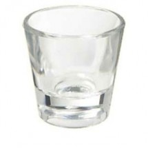 GET Enterprises SW-1425-1-CL Clear SAN Plastic Shot Glass 1 oz. - 2 doz