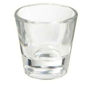 GET Enterprise  SW-1425-1-CL Clear Plastic 1 oz.  Shot Glass - 2 doz