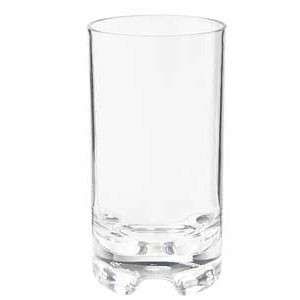 GET Enterprise SW-1426-1-SAN-CL SAN Plastic Tall Beverage Glass 14 oz. - 2 doz