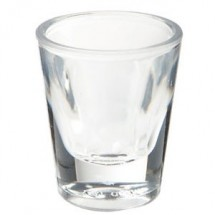 GET Enterprises SW-1427-1-CL Clear SAN Plastic Shot Glass 1 oz. - 2 doz