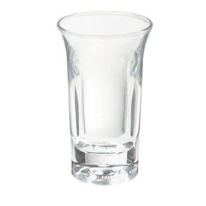 GET Enterprises SW-1431-1-CL Clear SAN Plastic Shooter Glass 1 oz. - 4 doz