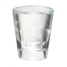 GET Enterprises SW-1433-1-CL Clear SAN Plastic Shot Glass 0.88 oz. - 2 doz