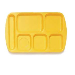 "GET Enterprises TL-151 Melamine Left Hand 6-Compartment Tray 14-3/4"" x 9-1/2"" - 1 doz"