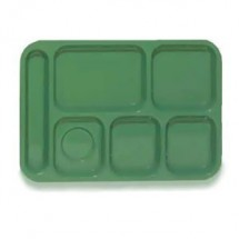 "GET Enterprises TL-152 ABS Plastic Left Hand 6-Compartment Tray 10"" x 14"" - 1 doz"