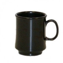 GET Enterprise  TM-1308-BK Black 8 oz. Stacking Mug - 2 doz