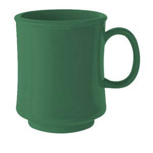 GET Enterprises TM-1308-FG Rainforest Green Tritan Stacking Mug 8 oz. - 2 doz