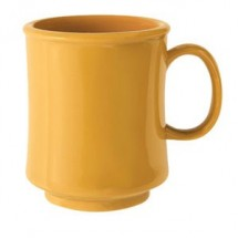 GET Enterprises TM-1308-TY Tropical Yellow Tritan Stacking Mug 8 oz. - 2 doz