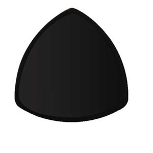 "GET Enterprises TP-12-BK Black Elegance Triangle Plate 12"" - 1 doz"