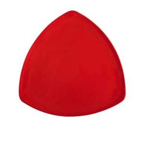 "GET Enterprises TP-12-RSP Red Sensation Triangle Plate 12"" - 1 doz"