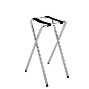 GET Enterprises TSC-101 Chrome Folding Tray Stand 30-1/2& - 1/2 doz