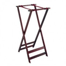 Get Enterprises TSW-105 Folding Mahogany Wood Tray Stand 38""